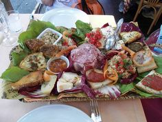 Dining in Italy often includes antipasti