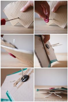 DIY Cardboard Fastener How-To by The Cardboard Collective - this is brilliant!   Found via @Ticia Adventures in Mommydom
