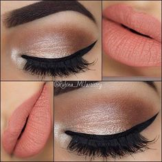 Neutral Eyes and Peach Lips Makeup Look for Prom # Loading. Neutral Eyes and Peach Lips Makeup Look for Prom # Glam Makeup, Formal Makeup, Neutral Makeup, Neutral Eyes, Hair Makeup, Makeup Lips, Bride Makeup, 2017 Makeup, Sexy Makeup