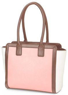 Rózsaszín, krémszínű  táska