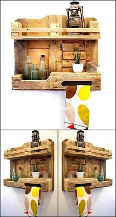 Everyone loves to inculcate the natural element in his home in one way or another. The most amazing factor in this pallets wood project is it's natural and rustic appearance. Now re-transform wood pallets and design this shelving to provide your house a rustic, unique and beautiful looking product.