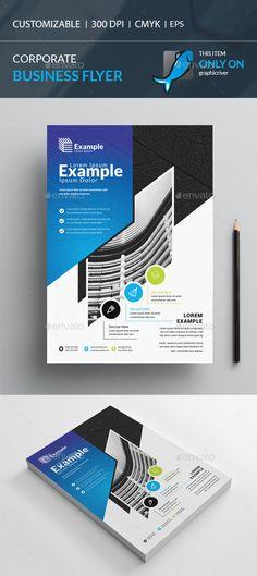 Buy Flyer by I-Getup on GraphicRiver. Print Design, Graphic Design, Creative Flyers, Text Fonts, Business Flyer Templates, Corporate Flyer, Calendar Design, Modern Logo, Design Crafts