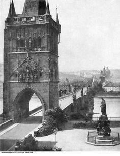 Andreas Groll Old Town Bridge Tower in Prague, 1856 Old Pictures, Old Photos, Prague Photos, Prague Czech Republic, Old Town Square, Heart Of Europe, Old Photography, World View, Old City