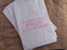 25 Baby Shower Favor Bags Candy Buffet by TearsOfJoyCollection, $12.50