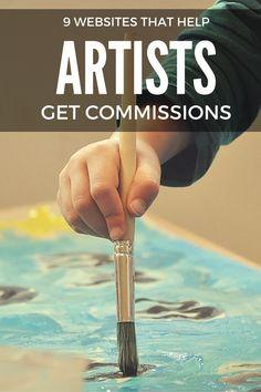 http://www.diyartcareer.com/blog/9-websites-that-help-artists-get-commissions