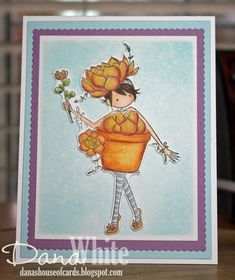 Bellarific Friday April 28 2017 PHOTO INSPIRATION CHALLENGE- Rubber stamps used: Tiny Townie SUSIE the SUCCULENT card by Dana White