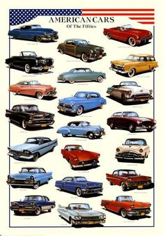 Cars American Cars of Fifties Prints at AllPosters.com