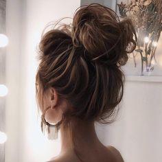 Wedding Hair Up, Wedding Hairstyles For Long Hair, Casual Updos For Long Hair, Cute Hairstyles Long, Wedding Dress, Short Haircuts, Summer Hairstyles, Messy Bun Hairstyles, Chic Hairstyles