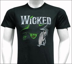 I have seen this design up close, and it is very cool.  Wicked the Broadway Musical - Black Sketch Logo T-Shirt