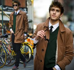 Trench & Spikes  (by Adam Gallagher) http://lookbook.nu/look/4717961-Trench-Spikes