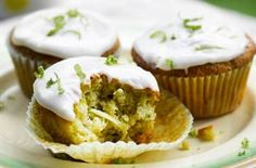 Courgette and lime muffins recipe ~ gonna try this & use a lime drizzle topping instead & add some coconut flour too... yummy!!!! :)