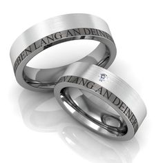283f5ddb989 EIN LEBEN LANG AN DEINER SEITE Ringe kaufen Produktdetails der Partnerringe  aus Titan und Sterlingsilber