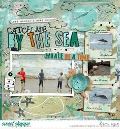 Digital scrapbook layout using Salt Air bundle by Captivated Visions; and Artified: This Is It template by Captivated Visions (found at Sweet Shoppe Designs)
