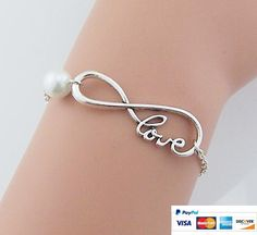 Infinity bracelet, love bracelet, pearl bracelet, endless love, charm jewelry, lovers gifts, Christmas gifts            http://www.luulla.com/product/339750/infinity-bracelet-love-bracelet-pearl-bracelet-endless-love-charm-jewelry-lovers-gifts-christm#