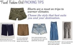 """""""Packing Tips: Shorts"""" by travelfashiongirl ❤ liked on Polyvore"""