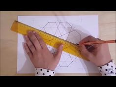 Geometric Drawing, Geometric Form, Geometry Art, Islamic Art, Mandala, Make It Yourself, Drawings, Youtube, Pattern