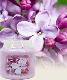 Spring Lilac-Premium Round - Lilac blossoms with notes of violet, black currant and black currant. Perfect #Easter #candle #gift