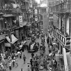 HISTORY - The Bustling Hong Kong of 1947: Historical Photos from Mark Kauffman