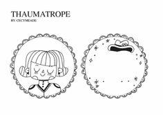 thaumotrope by cecymeade Diy For Kids, Crafts For Kids, Arts And Crafts, Paper Crafts, Trauma, Art Cart, Creation Deco, Kindergarten Crafts, Crafty Kids