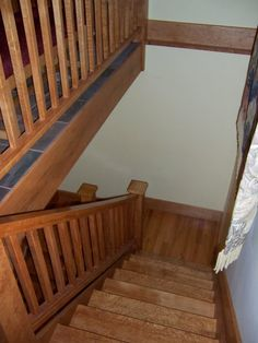 Bird's Eye View of this Maple Staircase at a Haliburton cottage  www.gregbrownconstruction.com
