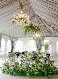 An Intimate, Monet-Inspired Wedding at a Connecticut Manor -You can find Monet and more on our website.An Intimate, Monet-Inspired Wedding at a Connecticut Manor - Hydrangea Bouquet Wedding, Lilac Wedding, Tent Wedding, Wedding Chairs, Wedding Bouquets, Wedding Ceremony, Wedding Entrance, Rooftop Wedding, Magical Wedding