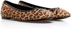 Date night for her -  Ella leopard ballerina shoes #souq #fashion