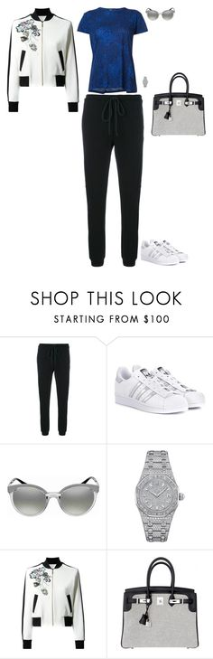 """Parkour's classroom"" by stylev ❤ liked on Polyvore featuring Lost & Found, adidas Originals, Versace, Audemars Piguet, Elie Saab, Hermès and Proenza Schouler"