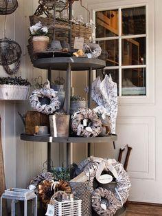 Loviisan aitta Shop Interior Design, Design Shop, Ladder Decor, Bookcase, Shelves, Finland, Denmark, Hotels, Shops