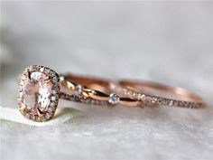 Hey, I found this really awesome Etsy listing at https://www.etsy.com/listing/203785352/14k-rose-gold-7x9mm-oval-cut-morganite