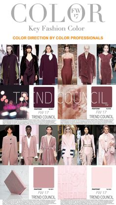 Tendances : Trend Council is excited to present the FW17 Key Fashion Color Report. The color professionals at TREND COUNCIL have synthesized the international runways to predict key color expressions to make accurate color choices for your future design development. (#684720)
