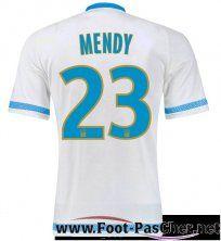 Maillot Du Olympique Marseille OM Blanc MENDY 23 Domicile 15 2016 2017 Pas Chere