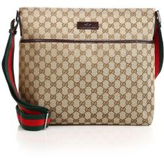 602a4c911187 Gucci Original GG Canvas Messenger Bag ( 750) ❤ liked on Polyvore