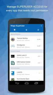 Kingo SuperUser is a superuser access management tool for Android devices.