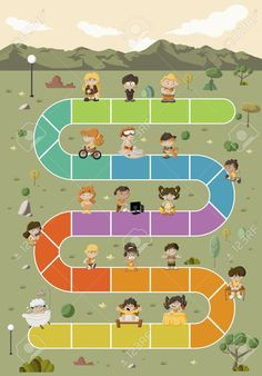 Free Board Games, Board Game Themes, Cute Wallpaper Backgrounds, Cute Wallpapers, Happy Cartoon, Green Park, Speech And Language, Games For Kids, Kids Playing