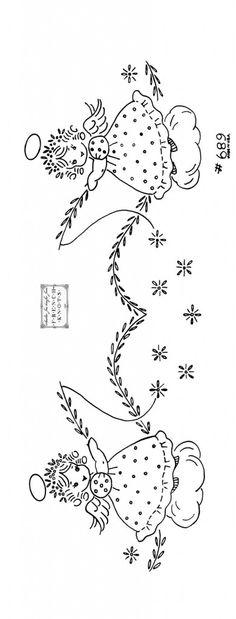 Angel Embroidery Pattern