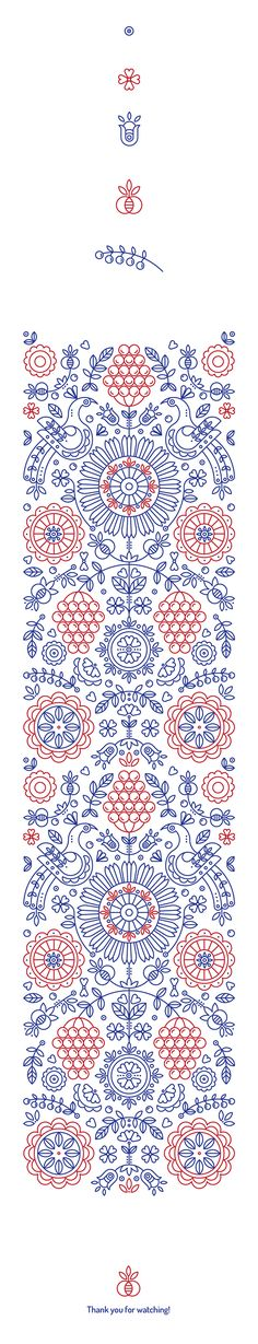 Ethnic pattern based on authentic symbols of classic Ukrainian drawings.  line art formed into a simple yet complex pattern