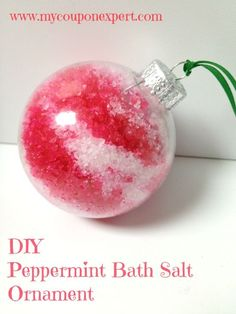 Frugal Christmas Gifts: DIY Peppermint Bath Salt Ornament