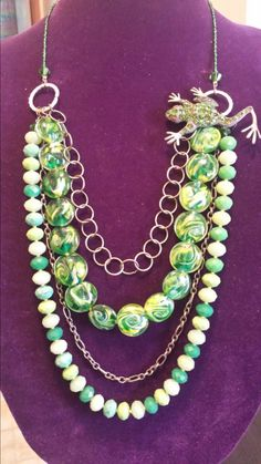 Check out this item in my Etsy shop https://www.etsy.com/listing/205916284/4-in-1-necklace