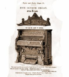 Taylor & Farley - 1M Five Octave Organ. style R Case