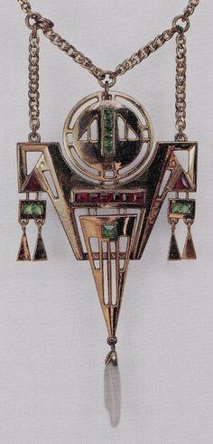 Art Nouveau Pendant designed by Georg Kleemann (German ,1863 – 1932)circa 1902. Подвеска в стиле модерн, разработанная Георгом Клеманном (немецкий, 1863 - 1932) около 1902 года.新艺术风格的吊坠 乔治·克林曼 (德国,1863 - 1932)大约在1902年。