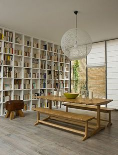 Book storage ideas via desire to inspire