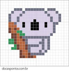 Koala cross stitch (doces pontos)
