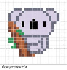 Koala perler bead pattern