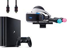 PlayStation VR Start Bundle 4 Items:VR Headset,Move Controller,PlayStation Camera Motion Sensor,Sony PS4 Slim 1TB Console - Jet Black