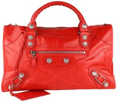 The Balenciaga Giant Work Red Leather Tote is a top 10 member favorite on Tradesy. Pink Balenciaga, Balenciaga City Bag, Red Giant, Leopard Dress, Fire Engine, Duffel Bag, Red Color, Red Leather, Dust Bag