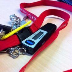 Dag 36 - Mijn sleutels en nieuwe token. De token heb ik nodig voor mijn nieuwe rol als P medewerker voor het nieuwe systeem.