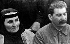 Stalin and his mother Catherine, Tbilisi 1939