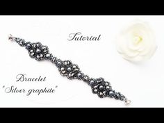 "#МК - Браслет ""Серебристый графит"" | #Tutorial - Bracelet ""Silver graphite"" - YouTube"
