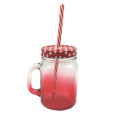 MASON JAR IN RED GRADIENT - Shop online at Candylicious! International shipping available. Dessert | Gifts | Cupcake | Kitchen | Candy