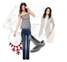 """""""Blue Gray"""" by melissa-mitcham on Polyvore featuring LOFT and ONLY"""